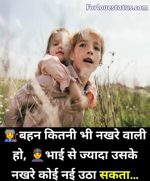Brother and Sister Quotes in Hindi English » ForLoveStatus